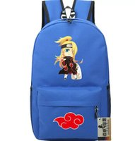 backpack naruto UK - Akamaru dog backpack Naruto ninja school bag Anime Deidara daypack Quality schoolbag Outdoor rucksack Sport day pack