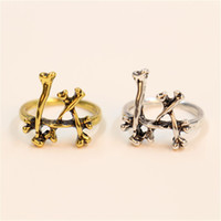 "Wholesale European American Fashion Ring - Wholesale 10PC Fashion Bone Combination ""LA"" Rings European And American Style Restoring Ancient Ways Mens Rings"