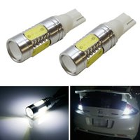 Wholesale Isuzu Led - T10 T15 194 ba9s 7.5W led Lens Cree cob High Power Car Signal Tail Turn LED Wedge Light