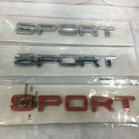 Wholesale Discovery Land - 1Pcs 3D Good Quality ABS Sport logo Emblem Chrome Badge Car Stickers Decal For Land Rover Discovery Range