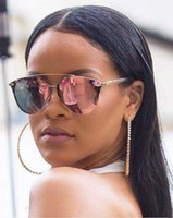 Wholesale Cool New Sun Glasses - Sale 2017 New Reflectived Pixel Sunglasses Women Brand Designer Cool Fashion Brand Sunglasses Coating Lady Sunglasses Reflective Sun Glasses
