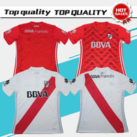 Wholesale Rivers Blue - 2017 River Plate home white Soccer Jersey 2017 River Plate away red Soccer Shirt 17 18 Customized football Uniform Sales