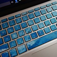 Blue Macbook наклейка MacBook Decal клавиатура Decal Skin Air / Pro / retina 11/13/15 клавиатура наклейка vinly