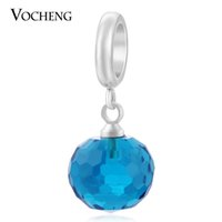Wholesale Brass Sheep - VOCHENG Endless Charms Blue CZ Stone Charm 3 Colors Brass Material Interchangeable Jewelry for Sheep Leather Bracelet VC-194