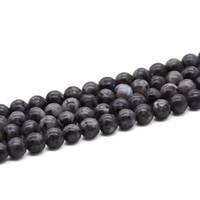 Wholesale Labradorite Beads 8mm - 8mm 10mm Black labradorite beads Labradorite gemstone beads Round black beads Jewelry supplies 15.5 inch Full Strand