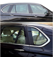 Wholesale Bmw Sills - 10pcs Stainless Steel Door Full Window Sill Frame Molding Trim For BMW X5 E70 2008-2013 Free