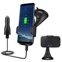 Wholesale power vehicles - Wireless Power Charging Universal Vehicle Charger For iPhone 8 X Samsung S6 S7 Edge S8 Plus High Efficiency With Retailpackage