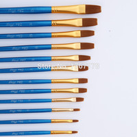 Wholesale old paint brushes for sale - Group buy New Design Nylon Hair Wooden Handle Painting Brush Artist Pen Set