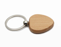 """Wholesale Cheap Cartoon Movies - 50X WOODEN HEART KEYCHAIN BLANK CHEAP KEY RING Personalized Engraved Name Keyrings 1.5""""x1.5"""" Free Shipping #KW01X"""
