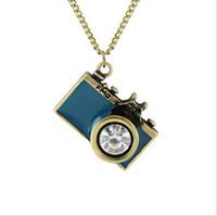 Wholesale Necklaces For Women Cameras - Retro pop Camera shape Necklaces Fashion Jewelry Alloy chain Hot necklaces & pendants necklace for women 2017 love 72 cm 6 color