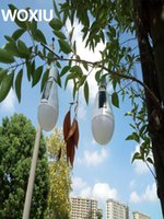Wholesale Solar Hanging Lights Garden Wholesale - Camping Rotatable Powered Panel,camp portable power Solar led light Tent Bulb garden hanging outdoor lamp 7W 12W waterproof IP65 E27 85-265V