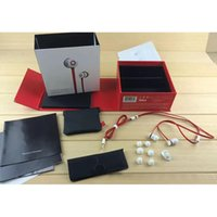 Wholesale bass gold - AAA+ Quality in-ear Earphones With Logo Stereo Bass Headset Headphone with micphone Headset Headphones brand Sealed retail box Drop shipping