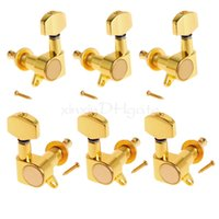 Wholesale Guitar Tuners 3l 3r - 6PCS Gold Acoustic Guitar Tuning Keys Machine Heads Tuners 3L+3R