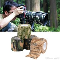 Wholesale Camo Scope - DHL Ship 5cmx4.5m Army Camo Outdoor Hunting Shooting Scope Mounts Tool Camouflage Stealth Tape Waterproof Wrap Durable 5 Color Choose LN-T01