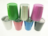 Wholesale Cheapest Wine Glasses - Cheapest!!! 9oz tumbler wine glasses Vacuum Insulated mug Stainless Steel Mug with lid with straw 9oz kid mug cup 10 color