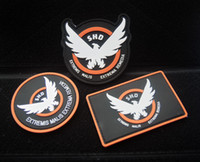 Wholesale Patch Airsoft - Game Airsoft Cosplay PVC Patch The Division SHD Wings Out Badge Morale Armband Tactical Rubber Patches