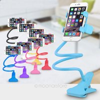 Wholesale S4 Mount - Wholesale 360 degree Flexible Arm mobile phone holder stand 85 cm Long Lazy People Bed Desktop tablet mount for iphone 5s for samsung S4