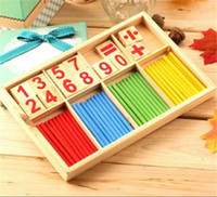 Wholesale Wholesale Preschool - Montessori Mathematical Intelligence Stick Preschool Educational Toys 23cm * 15cm * 2cm