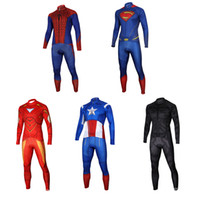 Full spider man cycling jersey - Pro Team Superman Long Style Cycling Jerseys Cycling Long Pants Sets Autumn Spring Bike Jersey Superhero Spider Man manga larga
