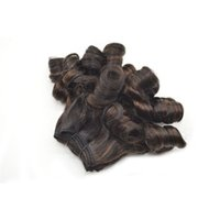 Wholesale Malaysian Hair Spring Curl - Ombre Funmi Hair,Malaysian 3 Pcs Fumi Hair, G-EASY Human Hair Spring curls Extension Stock fast Free Shiping