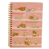 Wholesale Agenda Cat - Wholesale- Kawaii Japan cartoon Rilakkuma & Sumikkogurashi Coil notebook Diary agenda pocket book office school supplies Pink Bear Play Cat