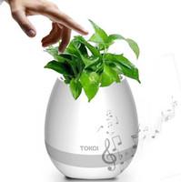 ingrosso piantare giardino di casa-Bluetooth Smart Musisc vasi da fiori Carino Round Home Garden Office Decor Fioriera piantatrice di plastica pianta da giardino