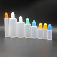Wholesale Glass Bottles For Liquid - PE empty bottle 3 5 10 20  30  50ml 15ml glass bottles childproof cap for e cig plastic oil bottle e liquid glass dropper bottles FJ059
