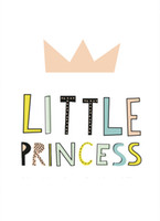 Wholesale Wall Art Quotes Canvas - Cartoon Little Princess Quote Canvas Art Print Poster, Wall Pictures for Girl Room Decoration, Giclee Wall Decor