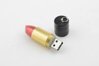 Wholesale Lipstick Shaped Pens - Lipstick Shaped USB Pen Drive USB Real 4GB 8GB 16GB 32GB USB Memory Stick Wholesale Cheap Free Shipping