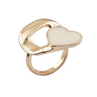 Wholesale Enamel European Ring - European and American popular jewelry elegant ladies fashion personality Ms. enamel drip ring 1pcs lot drop shipping