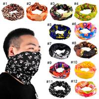 Wholesale Wholesale Bandanas Sports - Outdoor Sport Riding Bicycle Motorcycle Headscarf Variety Turban Novelty Bandanas Magic Headband Headband Multi Head Scarf Scarve 2503067