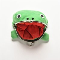 Wholesale Naruto Coin Wallets - Naruto Cute Frog wallets children kids Frogs Plush Coin zero Purse Uzumaki pouch handbag cosplay goods with Iron button