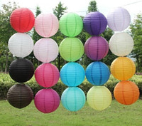 "Wholesale Chinese Paper Lanterns 12 - 2016 Free shipping 10pcs 30cm(12"") Chinese round paper lantern wedding lantern festival decoration mix color"