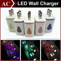 Leuchten Universal Wasser-drop LED Dual USB Ports Home Reise Power Adapter 5 V 2A AC US EU Stecker Ladegerät Für iPhone Samsung HTC LG Tablet