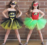super citron achat en gros de-BatmanRobin enfants fille Tutu Dress Super Hero Halloween Girl Summer Party Tutu Dress Costume Enfants Photographie Fille Vêtements