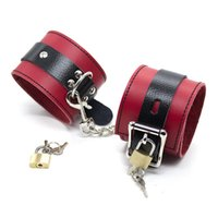 Wholesale Real Leather Sex - Real Leather Wrist Handcuff and Ankle Cuffs Adult Sex Games