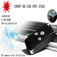 Wholesale Motion Detection Camera Micro Sd - 1080P FULL HD VIDEO CAR KEYCHAIN REMOTE SPY CAMERA DVR WITH MOTION DETECTION RECORDER +32GB Micro SD Card