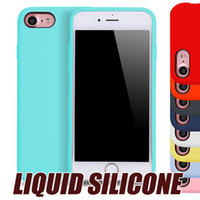 Wholesale Iphone Case Hot Selling - 2017 Hot Selling Slim Liquid Silicone Original Phone case for iPhone x 6 6s 7 Plus samsung s8 cases Rubber Case For Huawei