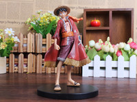 Wholesale One Piece 15th - One Piece Monkey D Luffy 15CM PVC Japanese Anime Action Figure Toys Grandline Lady 15th Anniversary Collection Model Doll Gift For Boys