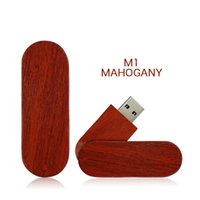 Wholesale Cheap 32gb Usb Flash Drive - Newest Rotate wooden usb Flash memory cheap Pendrive 32gb 64gb USB Stick Flash Drive