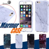 Wholesale Iphone Mobile Phone Covers - High Quality TPU Marble Skin Back Cover Case Protector Mobile Phone Shell For iphone 8 7 6 4.7 Plus 5.5 inch 50pcs Free Shipping