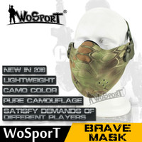 Wholesale airsoft lower face mask resale online - SHARPTECK Lower Half Face Protect Mask Guard Tactical Gear For Airsoft BB Gun CS War Game Paintball cycle Skull Mask
