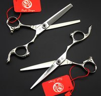 """Wholesale Hair Stylist Cutting Scissors Kit - #596 6"""" Professional Hair Cutting Thinning Scissors Set,High Quality Purple-Dragon Shears with Face Shape Handle,Hairdressing Stylist Tools"""