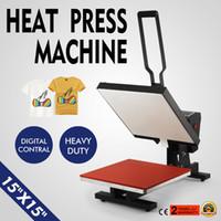 Wholesale Machine For T Shirt - Heat Press 15x15 Inch 1420W Heat Press Machine High Pressure Semi-Auto Open Heat Press Machine for T Shirts with Digital Temperature and Tim
