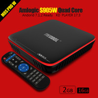 Wholesale Android Tv Lan - Android TV Box S905W 2G 16G M8S PRO Mecool Amlogic Android Box Media player Original with WiFi HDMI Lan connection