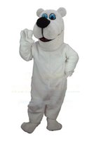 Wholesale Toon Polar Bear Mascot Hot Sale Adult Size Animal Theme White Bear Mascotte Mascota Outfit Suit Fancy Dress Cosply
