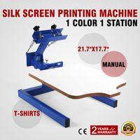 Wholesale Shirt Printer Free Shipping - Free Shipping VEVOR 1 color 1 station Manual DIY T Shirt printing Screen Printers Single Color Screen Press UV Printer Machine w  Removable