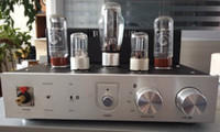 Wholesale El34 Tube Amplifier - Cheap Wholesale New Aluminum Tube Amp Audio Switch panel EL34 Vacuum HIFI Headphone amplifier with 4.0 Bluetooth