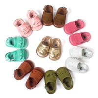 Wholesale Girls New Design Shoes - retail tassel toddler shoes baby moccasins kids moccs baby shoes kids sandals fringe boy shoes boys girls shoes 2016 new designed moccs