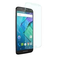 moto g pantalla templado al por mayor-Para Motorola Moto G4 Plus G Play Venta caliente Tough Hard Tempered Glass Film Protector de pantalla 100 unids / modelo